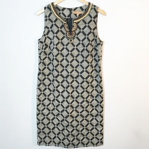 Ellen Tracy | Tribal Linen Blend Sheath Dress